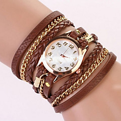 Women's Fashionable Leisure Braided Rope Pendant Bracelet Watch Leather Band Cool Watches Unique Watches