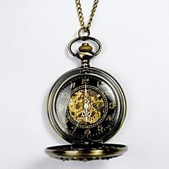 Αντρικά Γυναικεία Unisex Ρολόι Τσέπης μηχανικό ρολόι Αυτόματο κούρδισμα Εσωτερικού Μηχανισμού κράμα Μπάντα Χρυσό