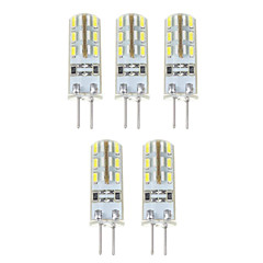1.5W G4 LED Corn Lights T 24*5 SMD 3014 500 lm Natural White DC 12 V