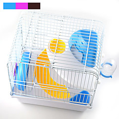 New Hot high quality plastic multi-colored castle princess cage hamster cage
