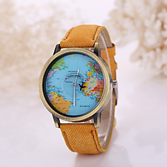 Herren Armbanduhr Quartz Armbanduhren für den Alltag Stoff Band Schwarz / Weiß Marke-