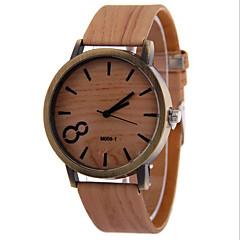 Masculino Relógio Elegante Quartz Relógio Casual Couro Banda Relógio de Pulso Preta / Branco