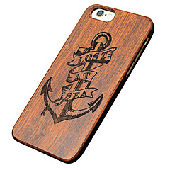 Mert iPhone 5 tok tokok Minta Dombornyomott Hátlap Case Horgony Kemény Fa mert AppleiPhone 7 Plus iPhone 7 iPhone 6s Plus iPhone 6 Plus