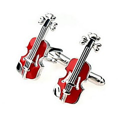 Men's Fashion Violin Style Alloy French Shirt Cufflinks (1-Pair) Christmas Gifts