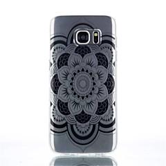 model floare materiale TPU caz plin de telefon pentru Galaxy s4 / s4mini / S6 / s6 margine / margine, plus s6 / s7 / muchie s7