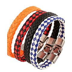classique 22cm tissé bracelet en cuir en cuir blanc unisexe (1 pc) bijoux