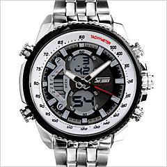 Hombre Reloj de Moda Cuarzo Calendario / Resistente al Agua Acero Inoxidable Banda Blanco Marca