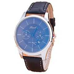 Couple's Casual Watch Retro Blue Watch With Calendar Casual Watches Couple Watches For Men And Women