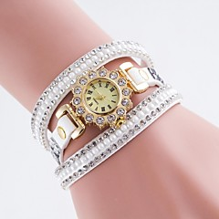 Women's Fashion Watch Simulated Diamond Watch Casual Watch Quartz PU Band Multi-Colored