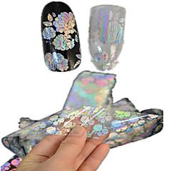 1pcs 100 * 4cm transparante laser nail art glitter stickers diy mooie bloem geometrisch nagel schoonheid lt05-08