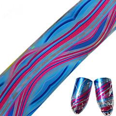 1pcs 100 * 4cm nail art overdracht glitterstickers diy geometrische kleurrijke golf lijn door het nail art design cs13-16