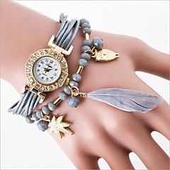 Dames Dress horloge Modieus horloge Armbandhorloge Kwarts gevlochten touw PU Band Zwart Wit Blauw Rood Grijs