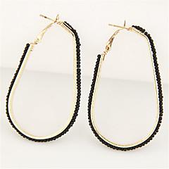 Druppel oorbellen Ring oorbellen Modieus Hars Legering Cirkelvorm Drop Wit Zwart Blauw Roze Gouden Sieraden Voor Feest Dagelijks Causaal1
