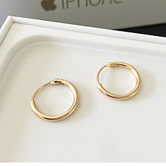 Earring Hoop Earrings Jewelry Fashion Daily / Casual 1 pair Gold / Silver