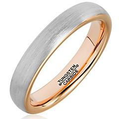 Ringe Mode / Vintage Bryllup / Party / Daglig / Afslappet Smykker Wolfram stål Parringe / Båndringe 1pc,11 / 12 / 13 Grå / Rose Guld
