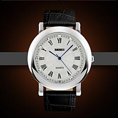 Мужской / Женские / Для пары Модные часы Кварцевый Защита от влаги Кожа Группа Черный / Коричневый бренд-
