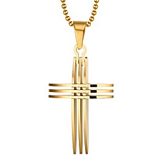 Men's Pendant Necklaces Pendants Cross Gold Plated 18K gold Personalized European Cross Jewelry For Daily Casual