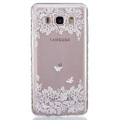 For Samsung Galaxy etui Transparent Etui Bagcover Etui Blomst Blødt TPU forJ7 J5 (2016) J5 J3 J2 J1 (2016) J1 Ace J1 Grand Prime Core