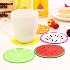 coastere forma de fructe de silicon ceașcă mat de culoare aleatorii