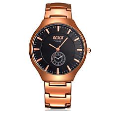 Herren Armbanduhr Quartz Wasserdicht / Armbanduhren für den Alltag Edelstahl Band Silber Marke-