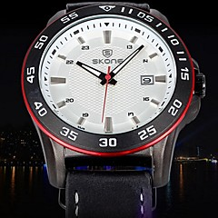 Erkek İzle Quartz Spor Saat Takvim / Su Resisdansı / Gündelik Saatler Deri Bant Bilek Saati