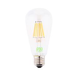 8W E26/E27 Ampoules à Filament LED ST64 8 COB 700-800 lm Blanc Froid Décorative AC 85-265 AC 100-240 AC 110-130 V 1 pièce