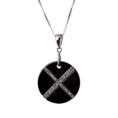 Necklace Pendant Necklaces Jewelry Wedding / Party / Daily / Casual Fashionable Black / White 1pc Gift
