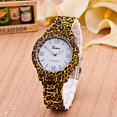 Dames Modieus horloge Kwarts Plastic Band Bloem Luipaard  Bruin Wit Geel