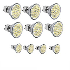 GU10 GU5.3 (MR16) E26/E27 LED-spotlampen MR16 60SMD SMD 2835 300 - 400LM lm Warm wit Koel wit Decoratief AC 110-130 AC 220-240 DC 12 V10
