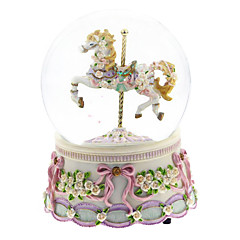 ABS Pink/Blue Creative Romantic Music Box for Gift