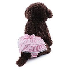 Koty Psy Spodnie Ubrania dla psów Wiosna/jesień Kokarda Groszki Cosplay Ślub Yellow Niebieski Różowy