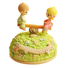 ABS Green Creative Romantic Music Box for Gift