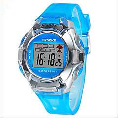 SYNOKE Lasten Urheilukello Rannekello Digitaalinen Watch Digitaalinen LCD Kalenteri Ajanotto Vedenkestävä hälytys Loistava Plastic Bändi
