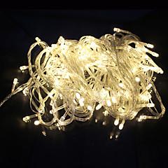 Udendørs Udsmykning Streng Lys LED 10M 100 Ført Ac220V / 110V EU 8 Tilstande Til Fest Haven Ferie Kulørte Lamper