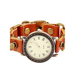 Dames Modieus horloge Armbandhorloge Digitaal Leer Band Bohémien Bruin Bruin