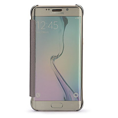 ginásio claro espelho de vista janela aleta caso de corpo inteiro para Samsung Galaxy S6 g9250 borda