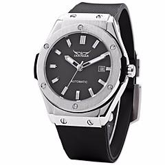 Men's Fashion Auto-Mechanical Rubber Band Watch Wrist Watch Cool Watch Unique Watch