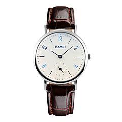 Mulheres Relógio Elegante / Relógio de Moda Quartz Impermeável Couro Banda Legal Preta / Marrom marca