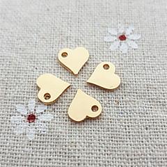 20pcs encanto sencillo collar de corazón para la joyería DIY (8 * 9 mm)