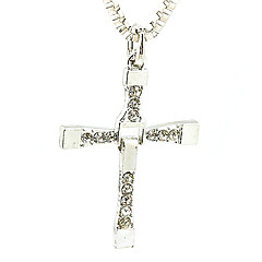 Alloy Necklace, Male Leading Role In Same, Cross Pendants, Men'S Jewelry Gift - White
