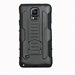 For Samsung Galaxy Note Stødsikker Med stativ Etui Bagcover Etui Armeret PC for Samsung Note 4