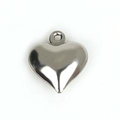 Amuletos Metal Heart Shape Como en la foto 20Pcs