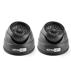 kingneo kd102 ir dummy kamera simuleret overvågning sikkerhed dome kamera 2stk sort