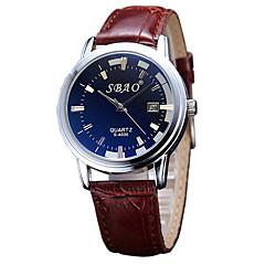 Fashion Taste Quartz Casual Business New Round Dial Couple's Wrist Watches