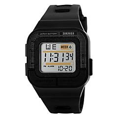 Unisexe Montre de Sport Numérique LED / Calendrier / Chronographe / Etanche / penggera / Lumineux / Chronomètre PU Bande Cool Noir / Rose