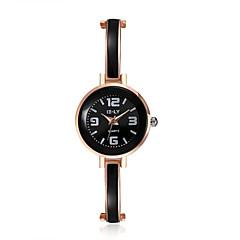 jewelora Dames Dress horloge Modieus horloge Kwarts Vrijetijdshorloge Stootvast Legering Band Vintage Zwart Goud Rose