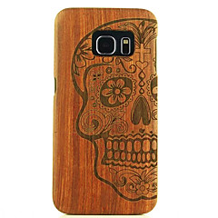 Natural Wood Samsung Case Human Skeleton Terror Religion Hard Back Cover for Galaxy S6 edge+/S6 edge/S6