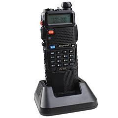 BaoFeng UV-5R-5W+3800L-black Walkie Talkie 4W / 1W (Max 5W) 128 136-174MHz / 400-520MHz 3800mAh 3-5 χλμFM Ραδιόφωνο / Συναγερμός έκτακτης