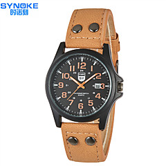 SYNOKE Men's Round  Dial Casual  Watch Alloy Strap  Japanese Quartz Watch Wrist Fashion Watch (Assorted Colors)