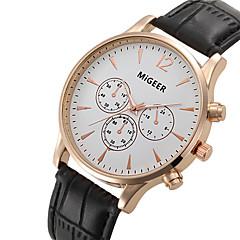 Unisex Kleideruhr / Modeuhr / Armbanduhr Quartz / Leder Band Cool Schwarz / Braun Marke